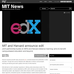 and Harvard announce edX