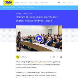 Harvard Business School professor shares 4 tips to find your 'edge'