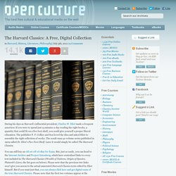 The Harvard Classics: A Free, Digital Collection