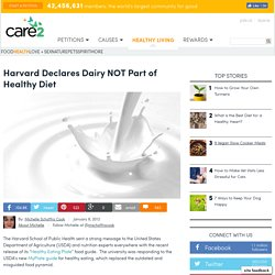 Harvard Declares Dairy NOT Part of a Healthy Diet