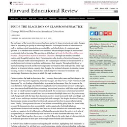 The Harvard Educational Review - HEPG