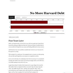 No More Harvard Debt | Follow one person's attempt to pay off $90k in student loans in ten months