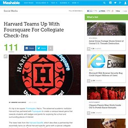 .Harvard Teams Up With Foursquare