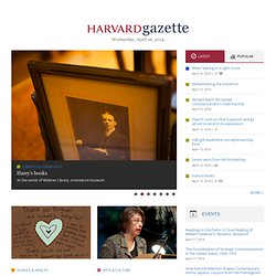 Multimedia | Harvard Gazette Online