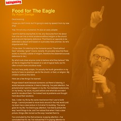 Food for The Eagle - Adam Savage's speech to Harvard Humanism Society