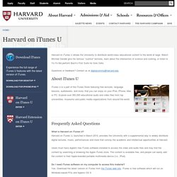 Harvard on iTunes U