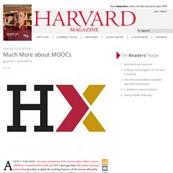 Harvard MOOC online learning lessons from edX