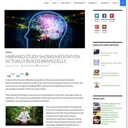 Harvard Study Shows Meditation Actually Builds Brain Cells
