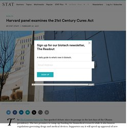 Harvard panel examines the 21st Century Cures Act