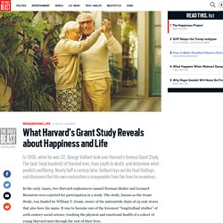 What Harvard's Grant Study Reveals about Happiness and Life