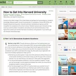 Get Into Harvard University