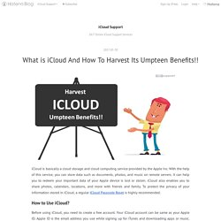 What is iCloud And How To Harvest Its Umpteen Benefits!! - iCloud Support