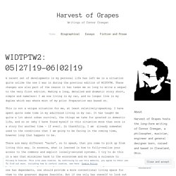 Harvest of Grapes – Writings of Connor Creegan