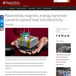Powered by magnets, energy harvester converts wasted heat into electricity