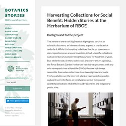 Narratives of the Herbarium of RBGE