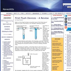 Rainwater harvesting first flush comparison