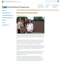 Rainwater Harvesting Study - Cockrell School of Engineering