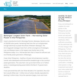 Batangas' Largest Solar Farm – Harvesting Solar Power in the Philippines