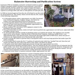 Rainwater Harvesting and Purification System