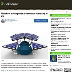 Photoflow is solar power and rainwater harvesting in one