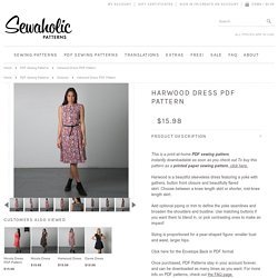 Harwood dress sewing pattern by Sewaholic Patterns, button front dress pattern with long sleeves or cap sleeves, flared knee length dress, summer dress pattern, sew a shirt dress for work or the office.