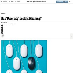 Has 'Diversity' Lost Its Meaning?