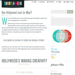 Has Hollywood Lost its Way?