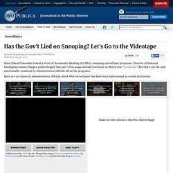 Has the Gov't Lied on Snooping? Let's Go to the Videotape