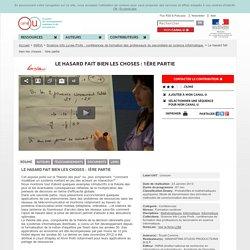 Le hasard fait bien les choses : exposé de Corinne Touati (vidéo 1), 2013