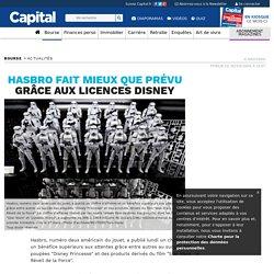 Hasbro fait mieux que prévu grâce aux licences Disney