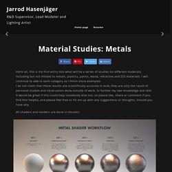 Jarrod Hasenjager - Material Studies: Metals
