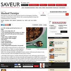Hashed Turnips Recipe