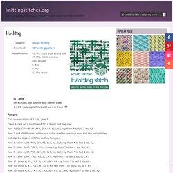 Hashtag - Knitting Stitches