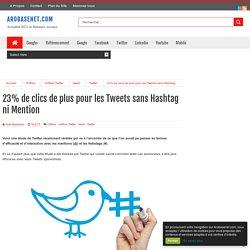 23% de clics de plus pour les Tweets sans Hashtag ni Mention