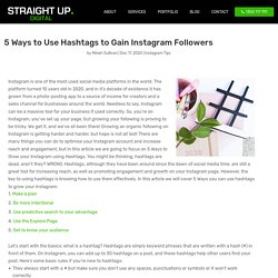 5 Ways to Use Hashtags to Gain Instagram Followers