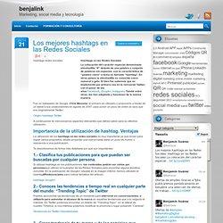 Los mejores hashtags en las Redes Sociales