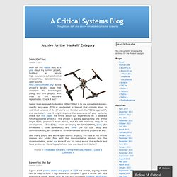 Haskell « A Critical Systems Blog