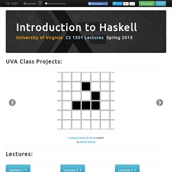 Haskell Lectures - CS 1501