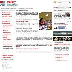 Háskólasetur Vestfjarða / Course Description