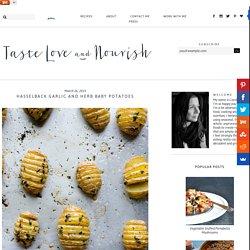 Hasselback Garlic and Herb Baby Potatoes - taste love and nourish