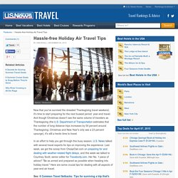 Hassle-free Holiday Air Travel Tips
