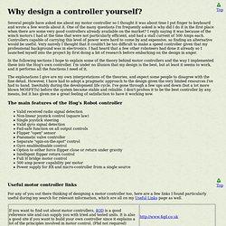Hassock Hog motor controller description