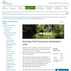 Hastings Park Sanctuary walk