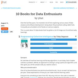 10 Books for Data Enthusiasts