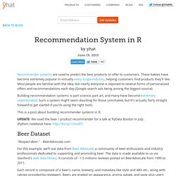 Recommendation System in R