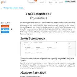 Yhat Sciencebox