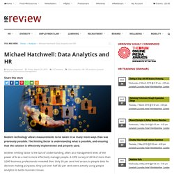 Michael Hatchwell: Data Analytics and HR - HRreview