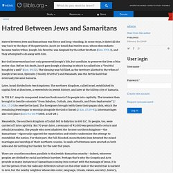 Hatred Between Jews and Samaritans