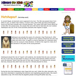 Hatshepsut for Kids - Facts from History for Kids