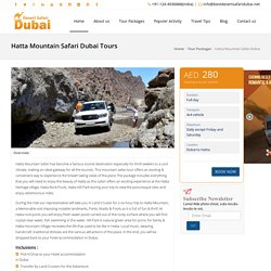 Hatta Mountain Safari Dubai, Desert Safari Tours in Dubai